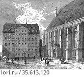 Johann Sebastian Bach's (1685-1750) house at Leipzig. Bach, German... Редакционное фото, агентство World History Archive / Фотобанк Лори