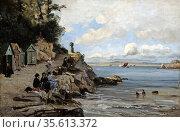 Douarnenez - Women's Bathing Place, Saturday', 1876. Oil on canvas... Редакционное фото, агентство World History Archive / Фотобанк Лори