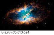 Planetary nebula NGC 2818 in the southern constellation of Pyxis (... Редакционное фото, агентство World History Archive / Фотобанк Лори