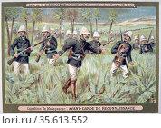 First Franco-Hova War 1883-1886: French avant-guarde making a reconniassance... Редакционное фото, агентство World History Archive / Фотобанк Лори