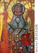 Saint Athanasius of Alexandria (c 293– 373) also called Athanasius... Редакционное фото, агентство World History Archive / Фотобанк Лори
