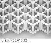 Three dimensional cubical structure, geometric pattern, 3d render. Стоковая иллюстрация, иллюстратор EugeneSergeev / Фотобанк Лори