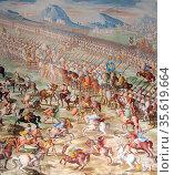 Forces of Muhammed IX, Nasrid Sultan of Granada, at the Battle of... Редакционное фото, агентство World History Archive / Фотобанк Лори