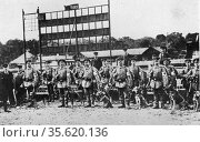German Red Cross squad with dogs used to assist in finding the wounded... Редакционное фото, агентство World History Archive / Фотобанк Лори