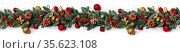 Christmas border frame design copmosition of noble fir tree branch... Стоковое фото, фотограф Zoonar.com/Ivan Mikhaylov / easy Fotostock / Фотобанк Лори
