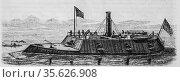 United States Ship Monitor, Le Magazin Pitoresque by Edouard Charton... (2009 год). Редакционное фото, фотограф Louis Bertrand / age Fotostock / Фотобанк Лори