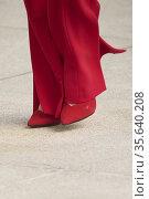 Queen Letizia of Spain attends the tribute to the figure of Clara... Редакционное фото, фотограф ©MANUEL CEDRON / age Fotostock / Фотобанк Лори
