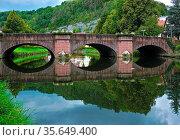Waldhornbrücke bei Sulz am Neckar. Стоковое фото, фотограф Zoonar.com/Jürgen Vogt / easy Fotostock / Фотобанк Лори