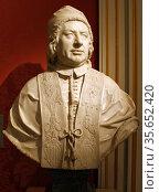 Pope Benedict XIV 1740-1758 (Prospero Lambertini) by Joseph Claus.  Signed and dated 1754. Редакционное фото, агентство World History Archive / Фотобанк Лори