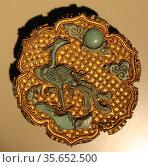 Gold box with phoenix and emblems of eight Taoist Immortals. China... Редакционное фото, агентство World History Archive / Фотобанк Лори