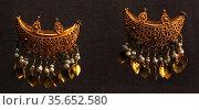 Byzantine jewellers used many decorative techniques including filigree... Редакционное фото, агентство World History Archive / Фотобанк Лори