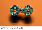 Spiral brooches from the Iron Age. Редакционное фото, агентство World History Archive / Фотобанк Лори