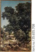 Gonzalo Salvá Simbor (1845 - 1923). Landscape with flock of sheep... (2019 год). Редакционное фото, фотограф Ruddy Gold / age Fotostock / Фотобанк Лори