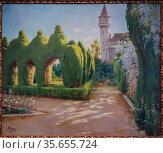 Genaro Palau Romero (1868-1933). Gardens of the Palacete de Ripalda... (2019 год). Редакционное фото, фотограф Ruddy Gold / age Fotostock / Фотобанк Лори
