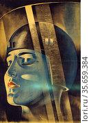 Poster for the Fritz Lang silent film 'Metropolis' Редакционное фото, агентство World History Archive / Фотобанк Лори