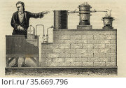 Lavoisier and Meusnier's apparatus for the decompostion of water, 175. Редакционное фото, агентство World History Archive / Фотобанк Лори