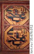 ISLAMIC ART. Museum of Islamic Art Berlin. Dragon-Phoenix tapestry... Редакционное фото, агентство World History Archive / Фотобанк Лори