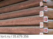 Old wooden houses in village Osturna, Spiska magura region, Slovakia. Стоковое фото, фотограф Richard Semik / easy Fotostock / Фотобанк Лори
