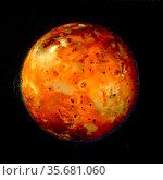 Io's volcanos continually resurface it, so that any impact craters... Редакционное фото, агентство World History Archive / Фотобанк Лори