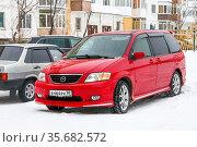 Mazda MPV. Редакционное фото, фотограф Art Konovalov / Фотобанк Лори