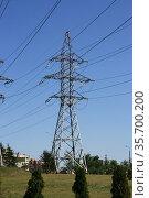 Вышки линии электропередач (ЛЭП) (2014 год). Редакционное фото, фотограф Марина Шатерова / Фотобанк Лори