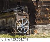 Poland. Old farm machinery. Стоковое фото, фотограф Piotr Ciesla / age Fotostock / Фотобанк Лори