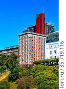 Hamburg, Germany - July 26, 2018: City of Warehouses or Speicherstadt... Стоковое фото, фотограф Zoonar.com/Nataliya_Nazarova{} / age Fotostock / Фотобанк Лори