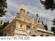 Церковь Святой Марии Магдалины (Иерусалим, Гефсимания) (2014 год). Стоковое фото, фотограф Александр Гаценко / Фотобанк Лори
