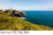 Cabo Mayor Lighthouse of Santdander. Cantabria. Spain. Стоковое фото, фотограф Татьяна Яцевич / Фотобанк Лори