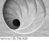 Abstract empty concrete tunnel, digital graphic background. Стоковая иллюстрация, иллюстратор EugeneSergeev / Фотобанк Лори