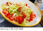 Light salad with fresh vegetables. Стоковое фото, фотограф Яков Филимонов / Фотобанк Лори