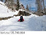Switzerland, Vaud, Waadt, hiver, winter, neige, Schnee, snow, Sonloup... Стоковое фото, фотограф Stephan Engler / age Fotostock / Фотобанк Лори