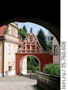 Official house of Castle Wiesenburg in High Flaming - Germany. Стоковое фото, фотограф Peter Probst / age Fotostock / Фотобанк Лори