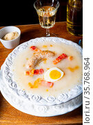 Zurek delicious polish easter soup. Стоковое фото, фотограф Zoonar.com/Darius Dzinnik / easy Fotostock / Фотобанк Лори
