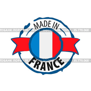 France flag, vector illustration on a white background