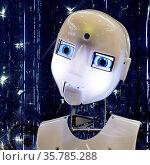 Der humanoide Roboter RoboThespian in der Arbeitswelt Ausstellung... Стоковое фото, фотограф Zoonar.com/Stefan Ziese / age Fotostock / Фотобанк Лори