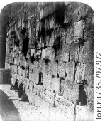The exterior of the Wailing Wall also know as Haram-Ash-Sharif -wailing... Редакционное фото, агентство World History Archive / Фотобанк Лори