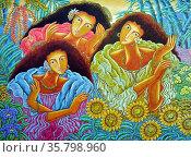 mario Parial, tres Marias, 1993. Oil on canvas. Редакционное фото, агентство World History Archive / Фотобанк Лори