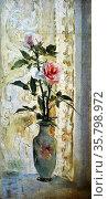 Juan Luna, Two Roses, undated. Oil on canvas. Редакционное фото, агентство World History Archive / Фотобанк Лори