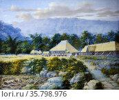 Juan Abelardo, El Sitio de Biak-na-bato, ca. 1897. Egg tempera. Редакционное фото, агентство World History Archive / Фотобанк Лори