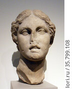 Marble head of a goddess. Greek, Hellenistic, 3rd or 2nd century B.C. Редакционное фото, агентство World History Archive / Фотобанк Лори