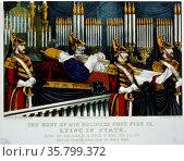 The body of his holiness Pope Pius IX. Редакционное фото, агентство World History Archive / Фотобанк Лори