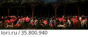 The Hunt in the Forest by Paolo di Don (Uccello) Редакционное фото, агентство World History Archive / Фотобанк Лори
