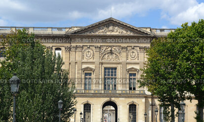 façade of the Louvre museum Paris.