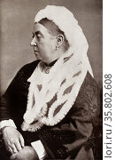 Queen Victoria of Great Britain 1885. Редакционное фото, агентство World History Archive / Фотобанк Лори