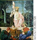 Piero Della Francesca (c 1416-1492) 'The Resurrection of Christ' c 1462, Fresco. Редакционное фото, агентство World History Archive / Фотобанк Лори