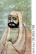 Soga Jasoku (documented 1452-83) Daruma. India ink and pale colour on paper. Редакционное фото, агентство World History Archive / Фотобанк Лори