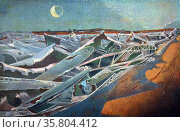 Painting titled 'Totes Meer' (Dead Sea) Редакционное фото, агентство World History Archive / Фотобанк Лори