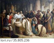 The Moorish Proselytes of Archbishop Ximenes at Granada, 1500. Редакционное фото, агентство World History Archive / Фотобанк Лори