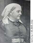 Dinah Maria Craik 1887. English novelist and poet. Редакционное фото, агентство World History Archive / Фотобанк Лори